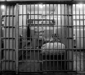 Cells in Alcatraz prison, San Francisco, California Author William Warby from London, England