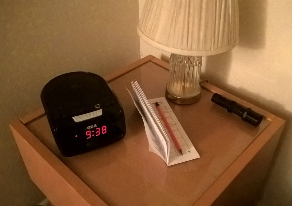 diary on nightstand