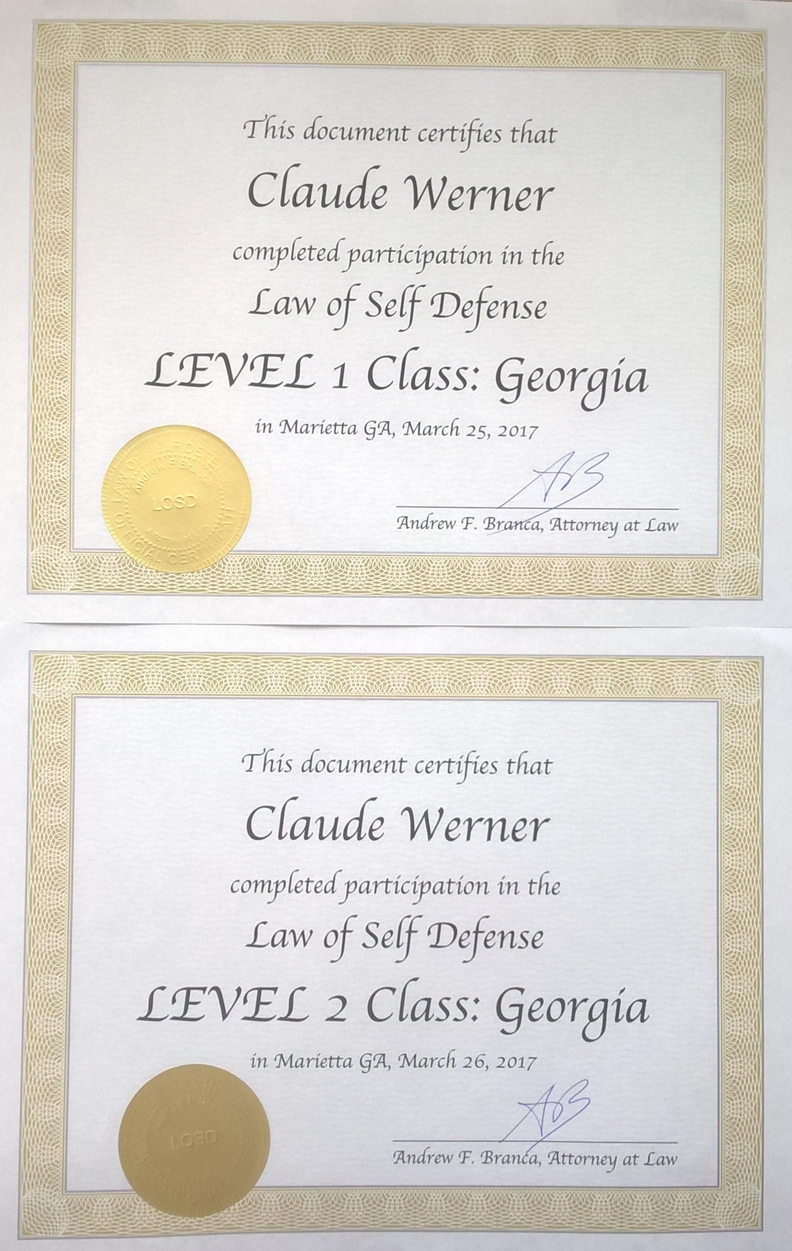 LOSD certificates