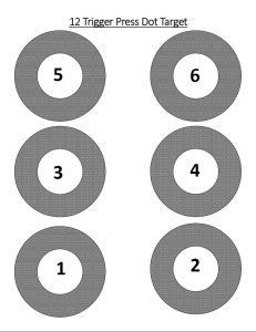 12 Trigger Press dry practice target