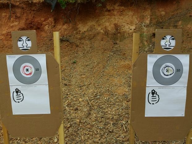 red black targets