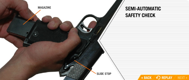 MPD FIREARMS SAFETY - TRAINING COURSE slide lock