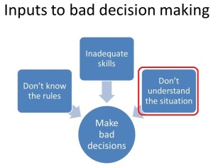 decision inputs dont understand