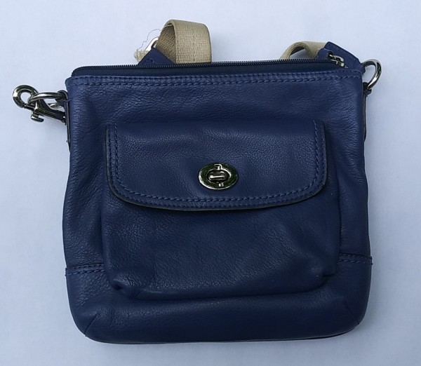 little blue purse